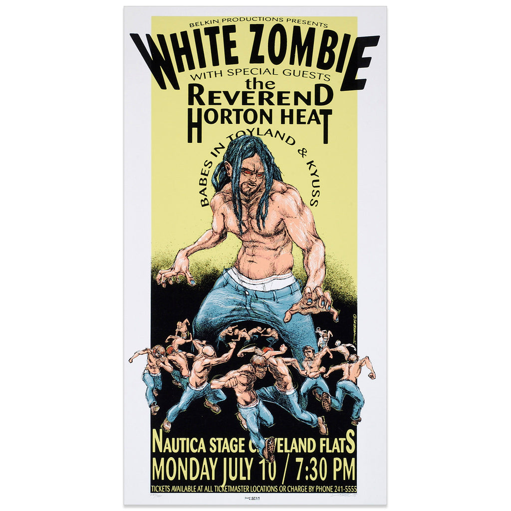 White Zombie w/ the Reverend Horton Heat / Babes In Toyland & Kyuss - Derek Hess