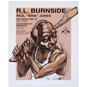 "R.L. Burnside w/ Paul ""Wine"" Jones - Derek Hess"