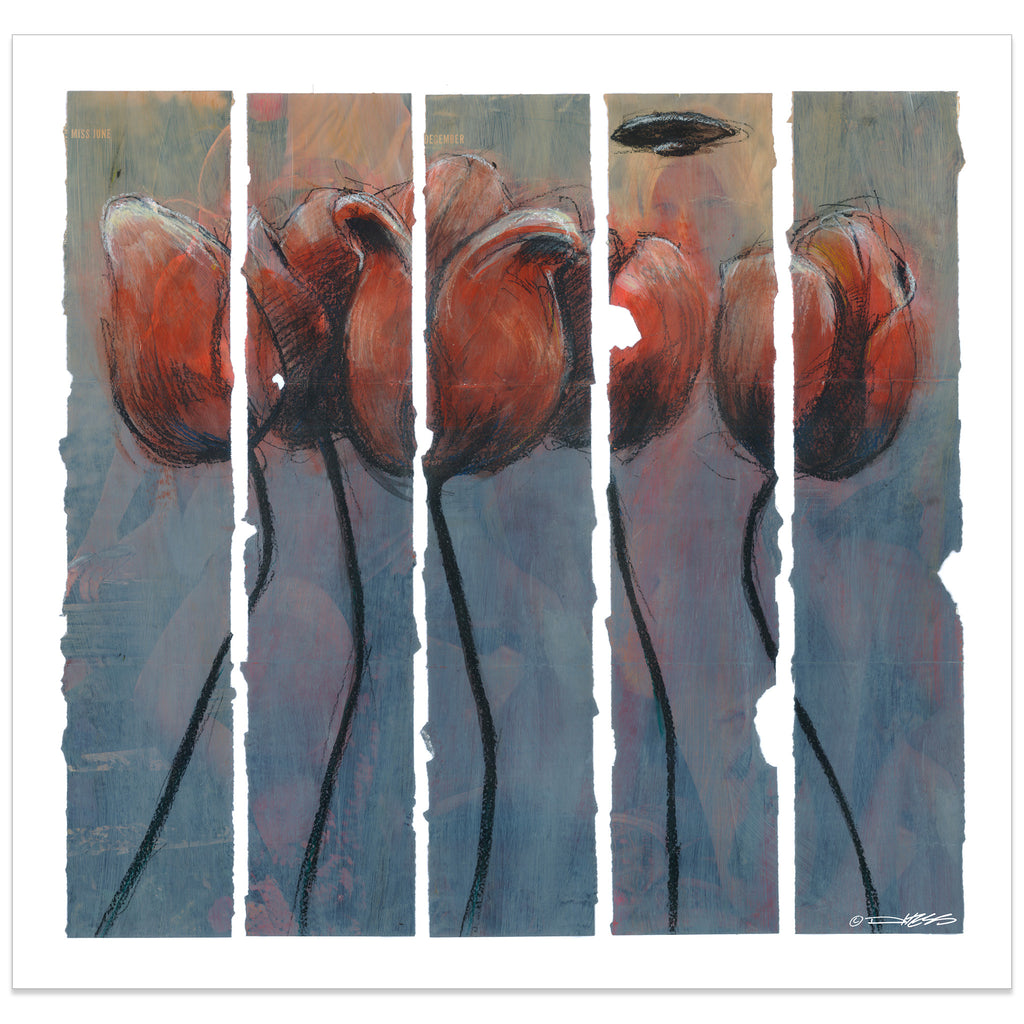 Five Tulips and A UFO - Derek Hess