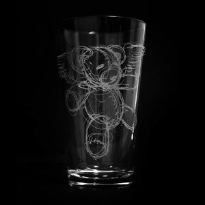 Teddy Bear Pint Glass - Derek Hess