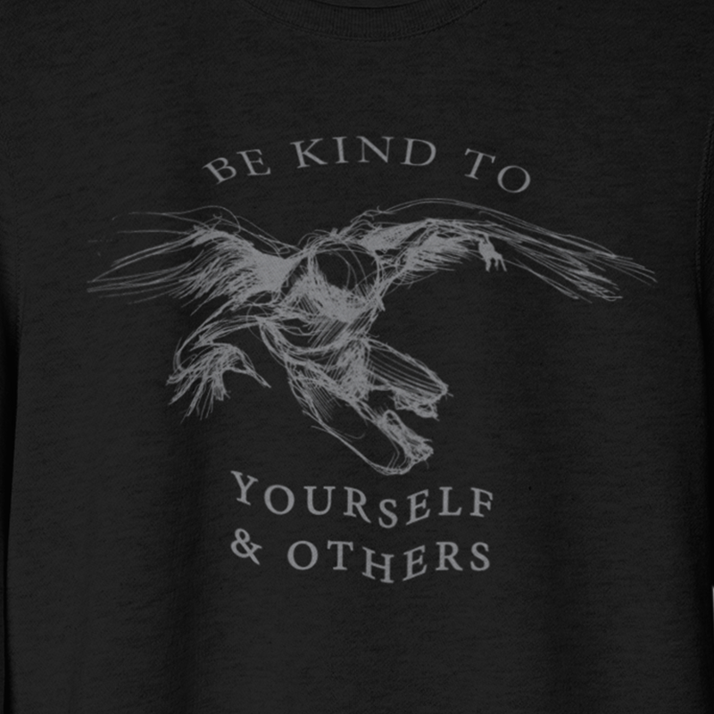 Be Kind Flying Angel Crewneck