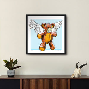 We Heart Our Healthcare Workers Medi-Teddy Fine-Art Print - Derek Hess