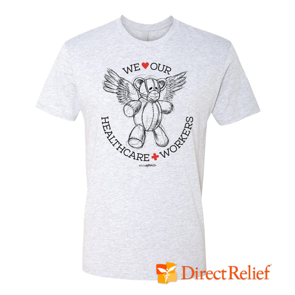 WE HEART OUR HEALTHCARE WORKERS Medi-Teddy Shirt - Derek Hess