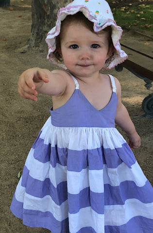 Lavender and White Stripe Dress