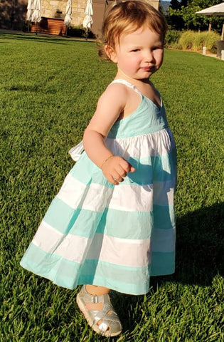 Mint and White Stripe Dress