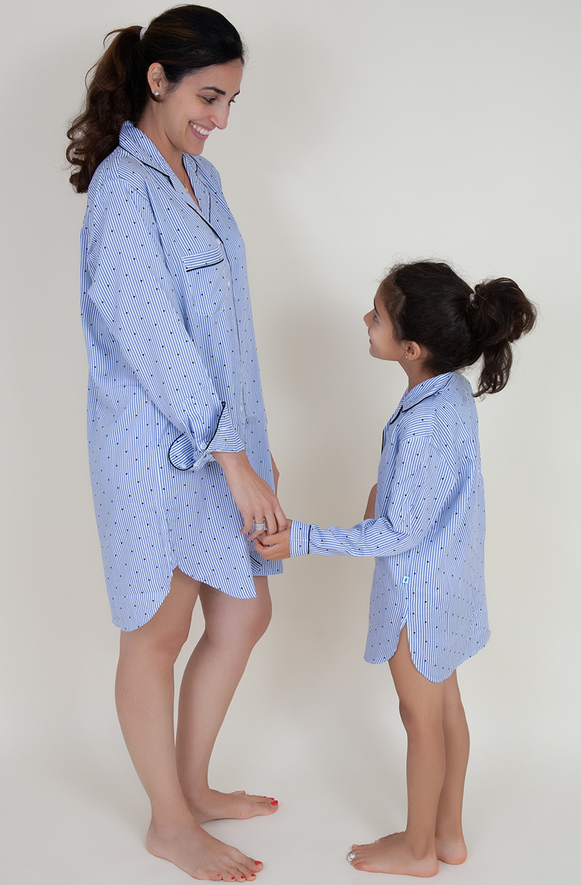 Stripe & Dot Lounge Shirt (Kids)