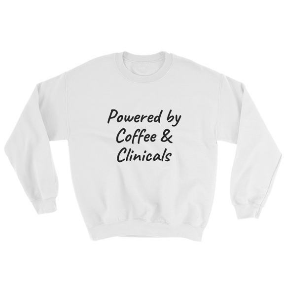 Coffee & Clinicals Sweatshirt ~ Gildan ~ White