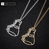 Erlenmeyer Flask Necklace