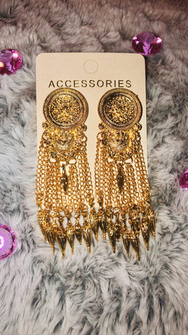 GOLD FRINGE EARRINGS