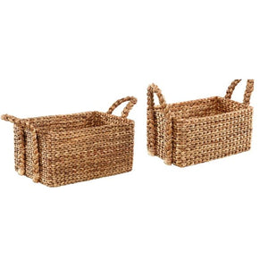 006-Home Decor - Small Basket w/ Handles - 13 Hub Lane - Dovetail Home Decor Type_Candles