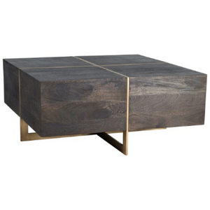021-Coffee Table - 40x40x18 | Desmond Square | Espresso - 13 Hub Lane - Classic Home Coffee Tables Furniture