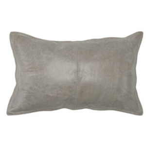 021-Pillow 14x26 - Leather Pike Grey - 13 Hub Lane - Classic Home Pillow