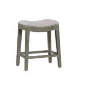 031-Counter Stool - Vivian/Linen Dove/Burnished Oak - 13 Hub Lane - Counter Stools Gabby Type_Stools