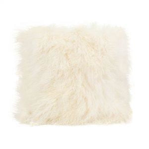 043-Lamb Fur Pillow Lg - Cream Sq. 22 - 13 Hub Lane - Moes Pillow