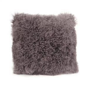 043-Lamb Fur Pillow Lg - Lamb Fur Pillow Large Grey - 13 Hub Lane - Moes Pillow