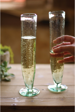 Tall Recycled Champagne Flute - 13 Hub Lane   |