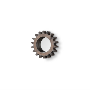 Cog Mirror III with Round Brown Wood Frame - 13 Hub Lane   |  Mirror