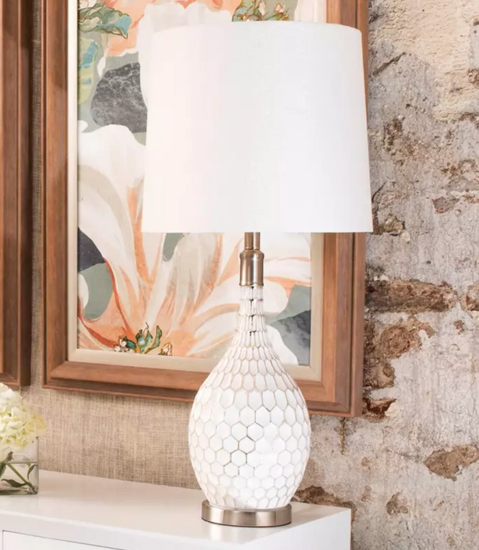 Aglona Painted Glass Table Lamp