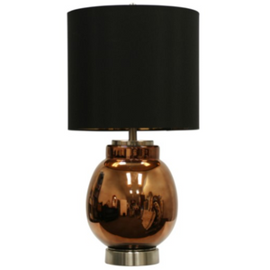 058-Table Lamp - Acworth/Glass & Steel - 13 Hub Lane - Style Craft Table Lamp type_Lighting Type_Table Lamp