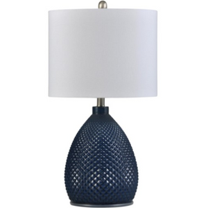 058-Table Lamp - Navy Blue | Glass - 13 Hub Lane - Style Craft Table Lamp type_Lighting Type_Table Lamp