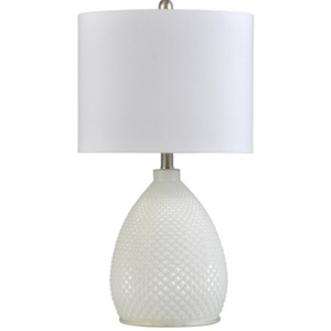 058-Table Lamp - Pure White - 13 Hub Lane - Style Craft Table Lamp type_Lighting Type_Table Lamp