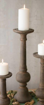 Rustic Cement Candle Holder - 13 Hub Lane   |  Candle Holder