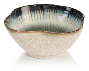 White & Smalt Blue Bowl