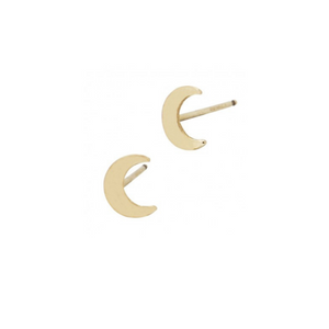Moon Stud Earrings - 13 Hub Lane   |