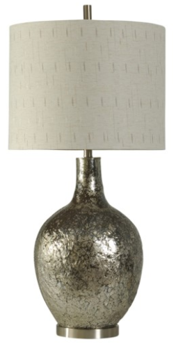 058-Table Lamp - Navarro | Textured Glass - 13 Hub Lane - Style Craft Table Lamp