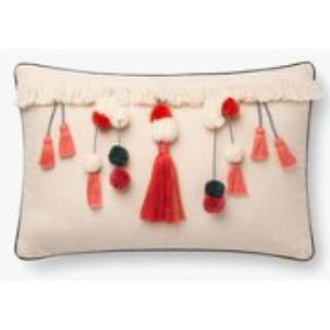 Natural/Coral Pillow - 13 Hub Lane   |  Decorative Pillow