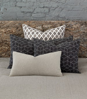 Bateman Charcoal King Sham - 13 Hub Lane   |  Decorative Pillow