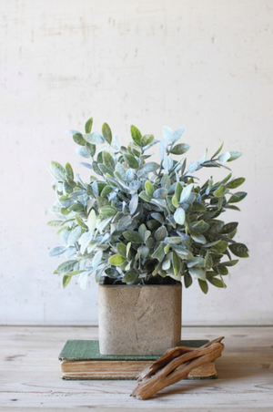 Artificial Sage Bush in a Square Pot - 13 Hub Lane   |
