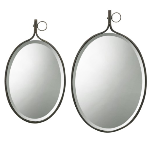 Beveled Oval Wall Mirror - 13 Hub Lane   |