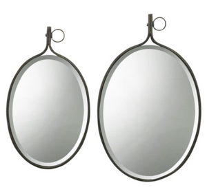 Beveled Oval Wall Mirror