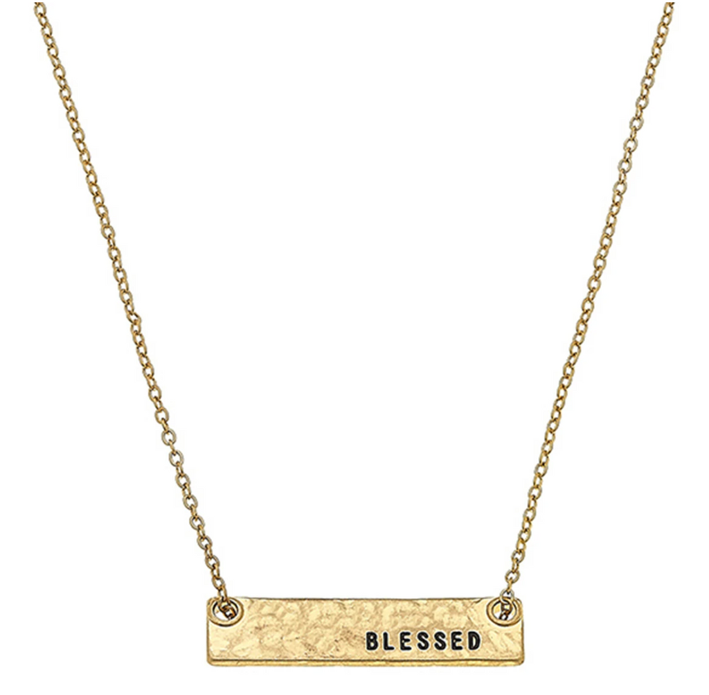 Blessed Bar Necklace - 13 Hub Lane   |  Necklace