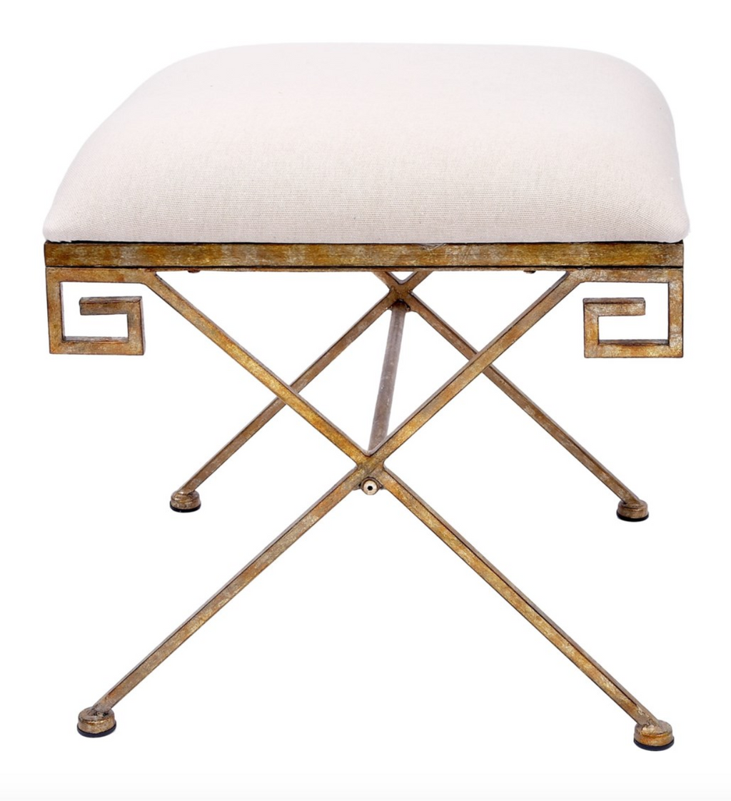 Gold Greek Key Bench - 13 Hub Lane   |  Bench