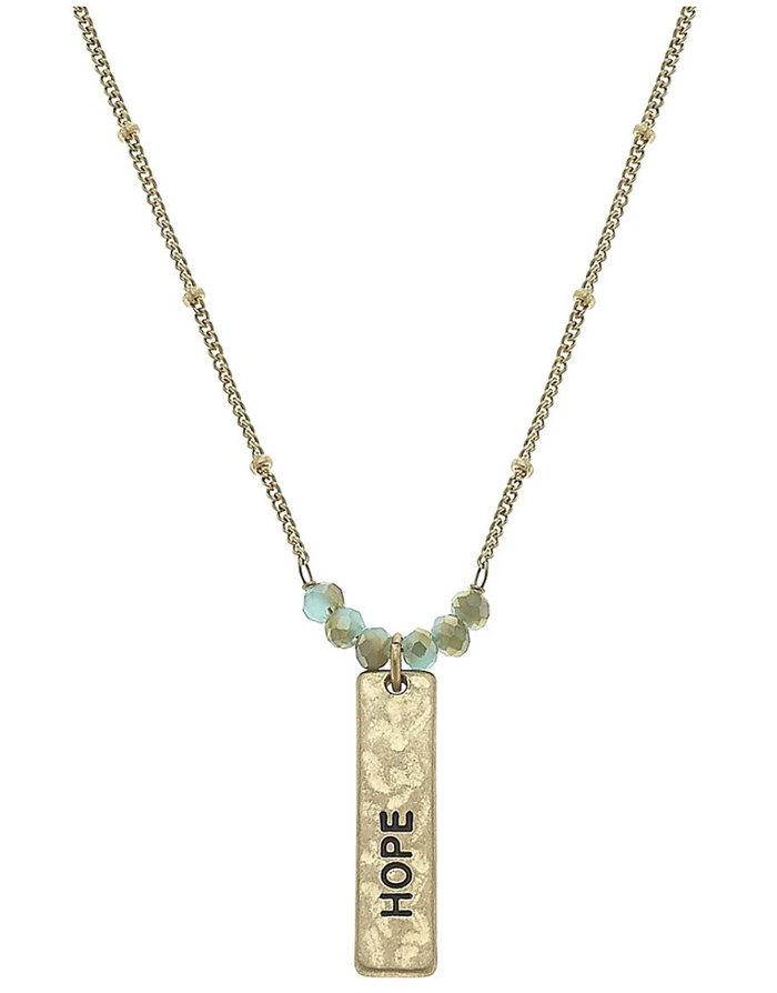 Reversible Hope Bar Necklace