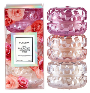 Voluspa Roses Macaron Trio Candle Gift Set - 13 Hub Lane   |  Candle