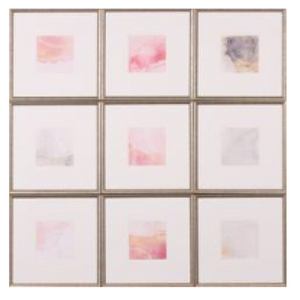 251-Wall Art - Blush Squares - 13 Hub Lane - Shadow Catcher Wall Art