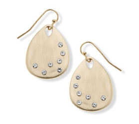 023-Earrings Caroline in Satin Finish Gold - 13 Hub Lane   |  Earrings