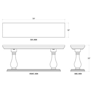 Bayside Console Table - 13 Hub Lane   |  Console Table