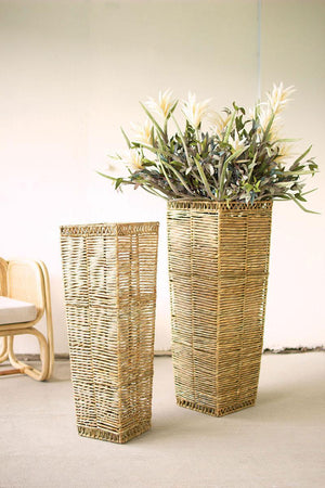 KAL Tall Tapered Seagrass Planter - 13 Hub Lane   |