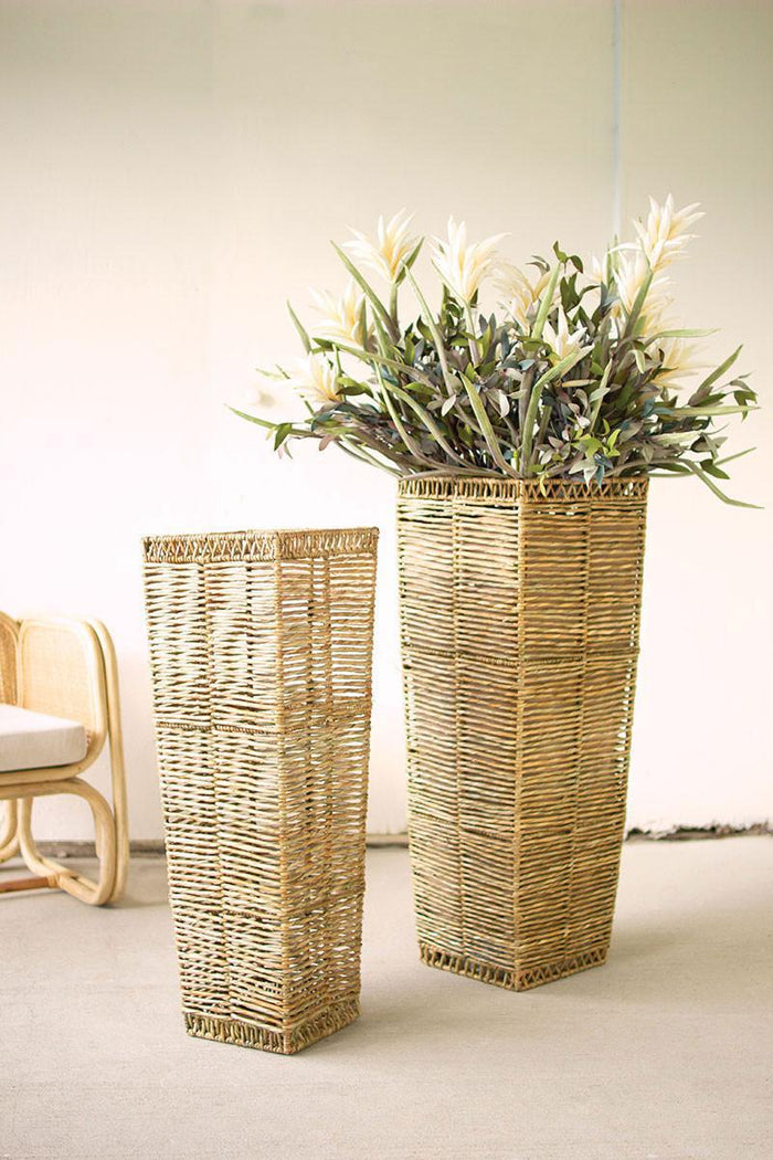 KAL Tall Tapered Seagrass Planter