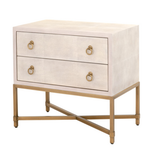Strand Shagreen 2-Drawer Nightstand - 13 Hub Lane   |