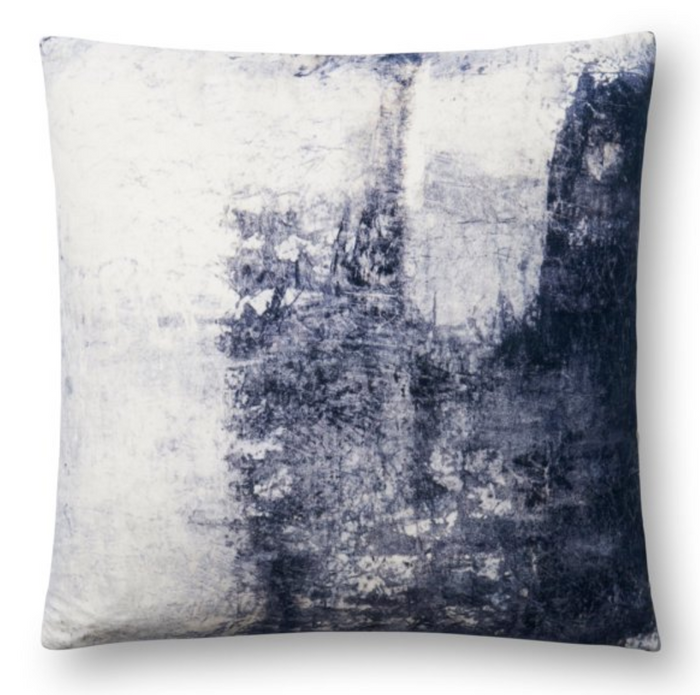Faded Blue Throw Pillow