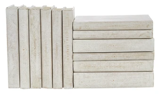 White Shagreen Bound Books - 13 Hub Lane   |