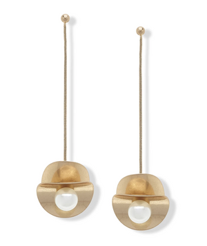 Bella Drop Earrings in Ivory Pearl - 13 Hub Lane   |  Earrings