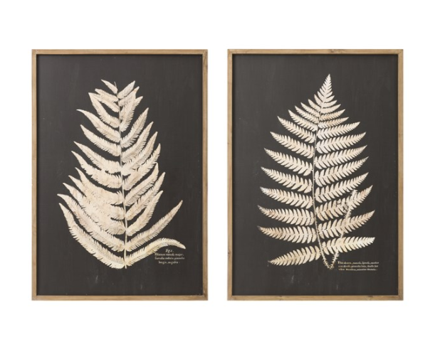 Fern Leaf Framed Wall Decor - 13 Hub Lane   |