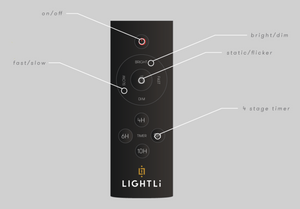 LightLi Flameless Candle Remote Control - 13 Hub Lane   |
