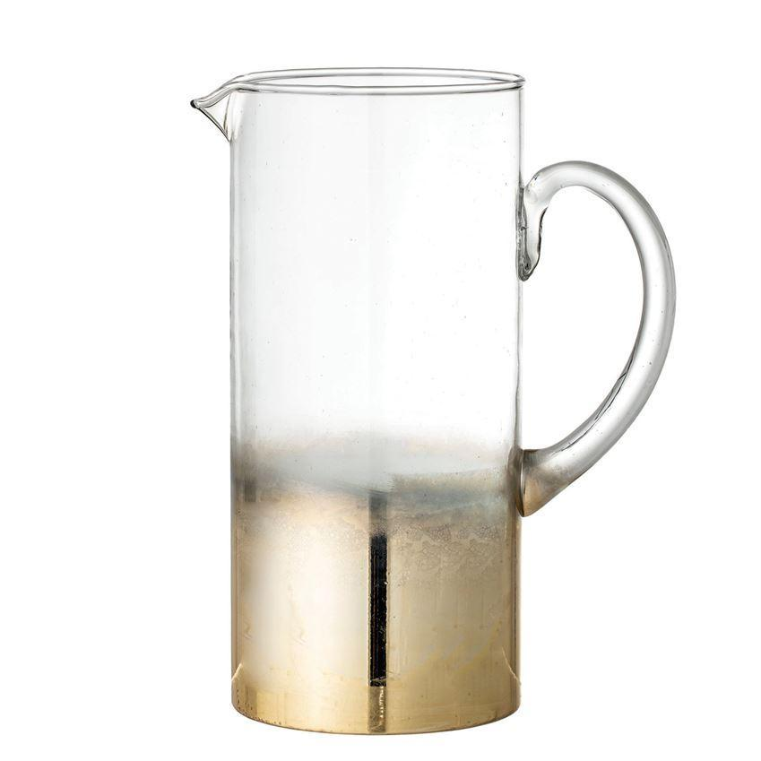 64 oz. Glass Pitcher w/Gold Ombre Finish - 13 Hub Lane   |